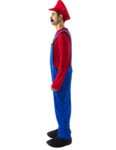 Orion-Costumes-Mens-Super-Mario-Bros-Plumber-Costume-Fancy-Dress-Outfit-0-0