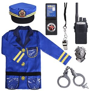 PROLOSO-Police-Officer-Costumes-Role-Play-Kit-Ages-3-6-Years-0