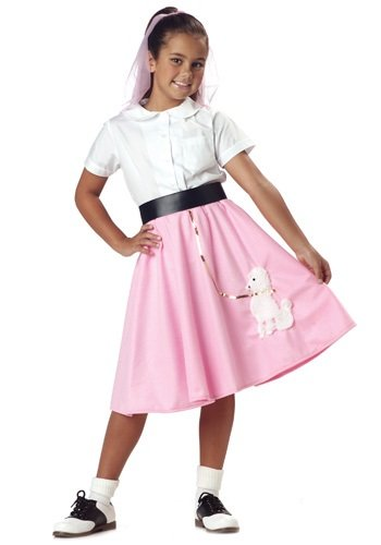 Poodle Skirt Girl's Costume