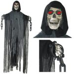 Prextex-5-Ft-Animated-Hanging-Grim-Reaper-Skull-with-Shackles-Chains-Best-Halloween-Decoration-Prop-0