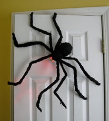 Prextex-Huge-4-Ft-Black-Hairy-Spider-Tarantula-with-LED-Eyes-for-Halloween-Haunt-Dcor-Best-Halloween-Decoration-0