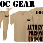 Prison-Inmate-Costume-Tan-Beige-Scrubs-DOC-Jail-Convict-Uniform-0-0