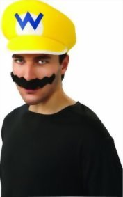 Rubies-Costume-Co-Mens-Super-Mario-Brothers-Wario-Hat-And-Mustache-Kit-0
