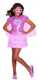 Rubies-Costume-DC-Superheroes-Supergirl-Pink-Sequin-Child-Costume-0