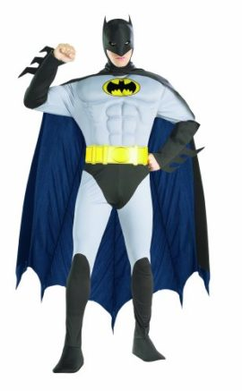 Rubies-Costume-Dc-Comics-Adult-Deluxe-Muscle-Chest-The-Batman-Costume-0