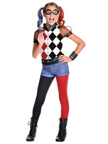 Rubies-Costume-Kids-DC-Superhero-Girls-Deluxe-Harley-Quinn-Costume-0