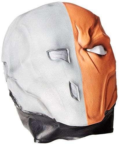 Rubie's Costume Men's Arkham City Adult Deluxe Overhead Latex Death Stroke Mask
