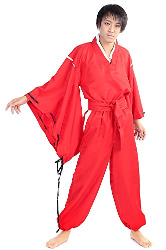 SDWKIT-InuYasha-Cosplay-Costume-Half-Demon-InuYasha-Red-Outfit-Set-V2-0