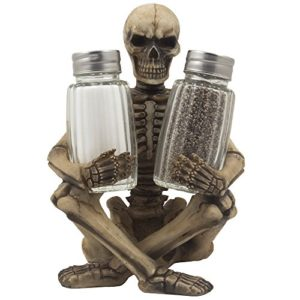 Scary-Skeleton-Glass-Salt-and-Pepper-Shaker-Set-with-Decorative-Spice-Rack-Display-Stand-Holder-Figurine-for-Spooky-Halloween-Party-Decorations-and-Skulls-Skeletons-Kitchen-Decor-Table-Centerpiece-Scu-0