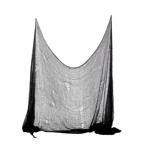 Set-of-2-Creepy-Scary-Gauze-Cloth-Drape-doorways-walls-entryways-Halloween-30×84-With-Spiders-White-Webs-0-0