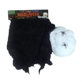 Set-of-2-Creepy-Scary-Gauze-Cloth-Drape-doorways-walls-entryways-Halloween-30×84-With-Spiders-White-Webs-0
