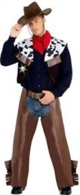 Smiffys-Mens-Cowboy-Costume-with-Waistcoat-Chaps-Scarf-and-Badge-0