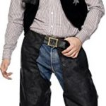 Smiffys-Mens-Cowboy-Leather-Costume-with-Chaps-Waistcoat-Belt-and-Neckerchief-0