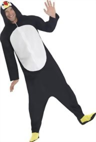 Smiffys-Mens-Penguin-Costume-All-In-One-with-Hood-0