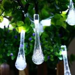 Solar-Christmas-Lights-Qedertek-192-Ft-8-Modes-30-Water-Drop-LED-Led-Fairy-Lighting-for-Garden-Decorations-Fence-PatioXmas-Wedding-Party-and-Holiday-0-0