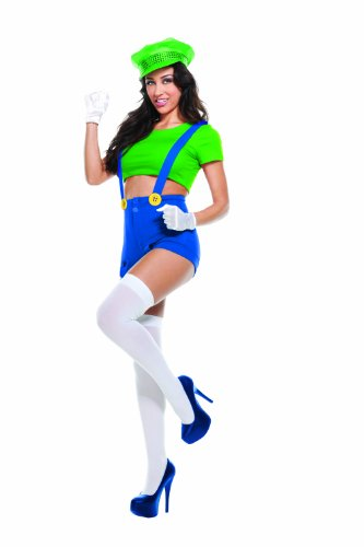 Starline Women's Green Video Game Player 4 Piece Costume Set