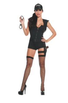 Starline-Womens-Hot-SWAT-Commander-Deluxe-Costume-Set-0