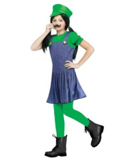Super-Mario-Luigi-Pretty-Plumber-Girls-Costume-0