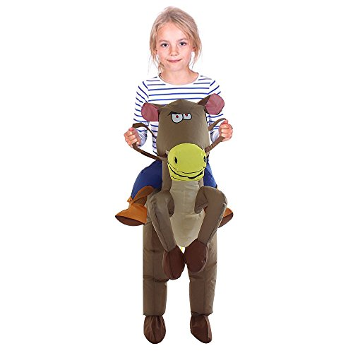 TOLOCO-Inflatable-Western-Cowboy-Riding-Horse-Halloween-Costume-Horse-Child-0