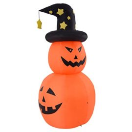 Tangkula-6-FT-Inflatable-Halloween-Rotatable-Stack-Pumpkin-Decoration-Lighted-Air-Blown-0-2