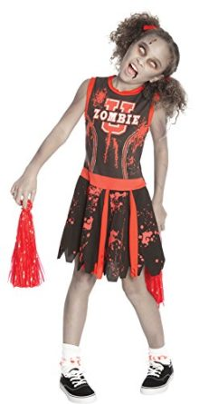 UHC-Girls-Undead-Zombie-Cheerleader-Outfit-Fancy-Dress-Kids-Halloween-Costume-XL-0