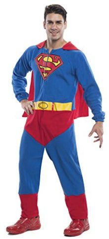 UHC-Mens-Superman-Onesie-Superhero-Outfit-Theme-Party-Halloween-Costume-0