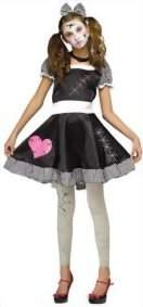 UHC-Teen-Girls-Broken-Doll-Scary-Theme-Party-Fancy-Dress-Halloween-Costume-0