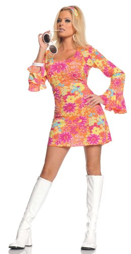 Underwraps-Costumes-Womens-Retro-Hippie-Costume-Flower-Power-0-0