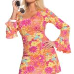 Underwraps-Costumes-Womens-Retro-Hippie-Costume-Flower-Power-0