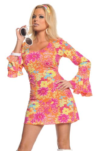 Underwraps Costumes  Women's Retro Hippie Costume – Flower Power