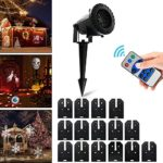 Vansky-Christmas-LED-Projector-Light-with-15-Replaceable-Patterns-RF-Remote-Control-IP65-Waterproof-for-Decoration-Lighting-on-Christmas-Halloween-Holiday-Party-0