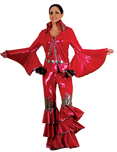 Women's 1970s Disco Queen Rock Star Costume-Sold Separately (Red)