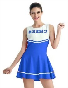 Womens-Cheerleader-Costume-Mini-Skirt-Fancy-Dress-Uniform-0