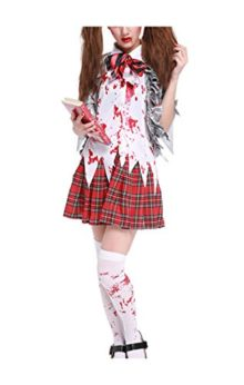 Womens-Horror-Zombie-Schoolgirl-Costume-Blooded-High-School-Student-Uniform-Halloween-Outfit-0