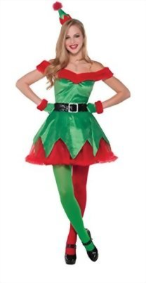 iRachel-Womens-Xmas-Holiday-Green-Elf-Costume-Christmas-Santa-Roleplay-Dress-Set-0