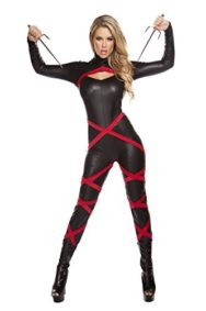 1-Piece-Sexy-Assassin-Ninja-Hit-Woman-Jumpsuit-with-Red-Banding-Costume-0
