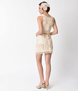 1920s-Beige-Gold-Beaded-Sequin-Sleeveless-Short-Flapper-Dress-0-1