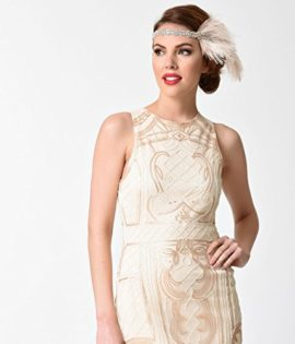 1920s-Beige-Gold-Beaded-Sequin-Sleeveless-Short-Flapper-Dress-0-3