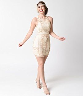 1920s-Beige-Gold-Beaded-Sequin-Sleeveless-Short-Flapper-Dress-0-4
