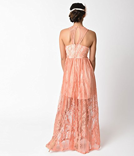 1920s-Style-Peach-Pink-Sleeveless-Lace-Long-Flapper-Dress-0-0