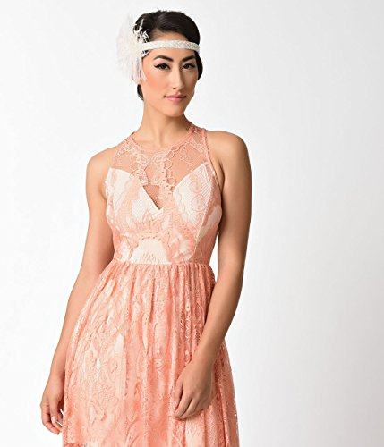 1920s-Style-Peach-Pink-Sleeveless-Lace-Long-Flapper-Dress-0-1