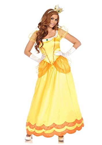 2 PC.Leg Avenue Ladies Sunflower Princess Gown Set