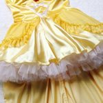 3Pc-Princess-Belle-Costume-Dress-Headpiece-Gloves-Cosplay-Beauty-Satin-Elegent-Desses-0-4