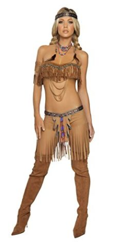 5-Piece-Indian-Princess-Beaded-Top-Fringe-Shorts-Costume-0