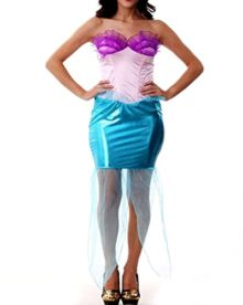 51324-Plus-Size-Mermaid-Adult-Woman-Costume-Dress-Cosplay-Halloween-Blue-0