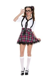 6-PC-Ladies-High-Class-Nerdy-School-Girl-Set-0