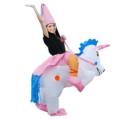 Adkinly Parent-child Inflatable Unicorn Rider Halloween Costume