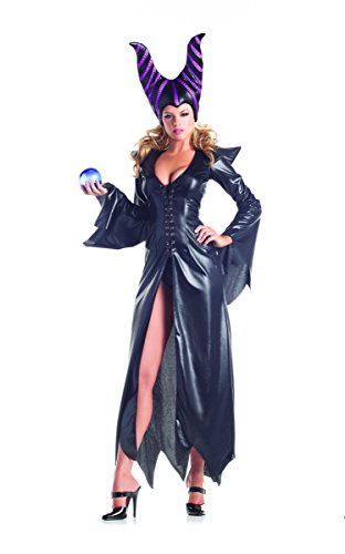 Adult Women's 2 Piece Sexy Maleficent Halloween Party Costume
