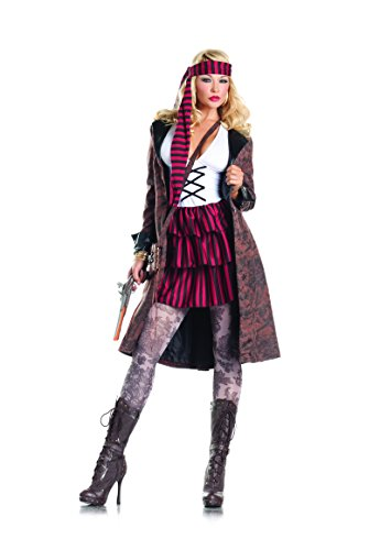 Adult Women's 3 Piece Mrs. Jack Sparrow Halloween Party Costume