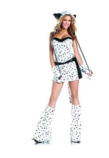 Adult-Womens-8-Piece-Sexy-Dalmatian-Halloween-Party-Costume-With-Hood-Leg-Warmers-0